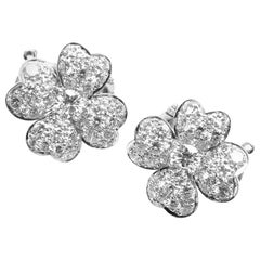 Van Cleef & Arpels Cosmos Diamond Platinum Earrings
