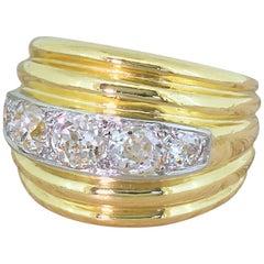 Art Deco 1.20 Carat Old Cut Diamond Five-Stone Ring