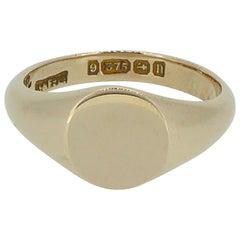 Antique Rose Gold Signet Ring, Birmingham 1912, George V