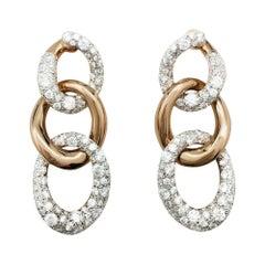 "Pomellato ""Tango"" Earrings Set with Diamonds"