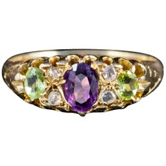 Antique Edwardian Suffragette 18 Carat Gold Ring Dated 1915
