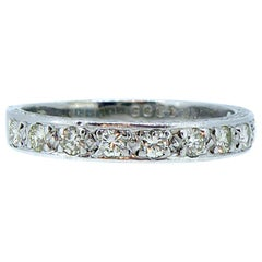 Vintage 0.33 Carat Diamond Wedding Ring, Eternity Ring, White Gold