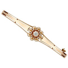 Antique Victorian Diamond Rose Gold Bangle