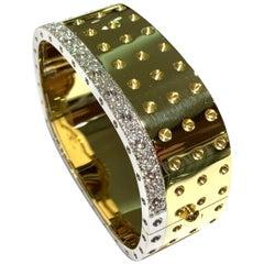 Roberto Coin Pois Moi 4-Row Bangle with 1.27 Carat Diamond