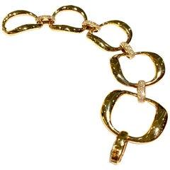 Roberto Coin Diamond Bracelet Set in 18 Karat Pink Gold
