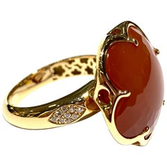 Pasquale Bruni Bon Ton Ring with Carnelian Stone and Diamonds
