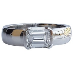 Fratelli Piccini Florence Emerald Cut Diamond Band Ring