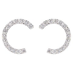 Jona White Diamond 18 Karat White Gold Earrings