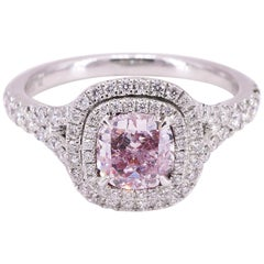 18 Karat GIA Pink Diamond Ring