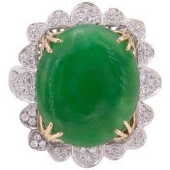 Natural Jade Gold Ring