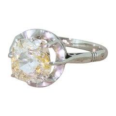 Art Deco 1.56 Carat Old Cut Diamond Engagement Ring