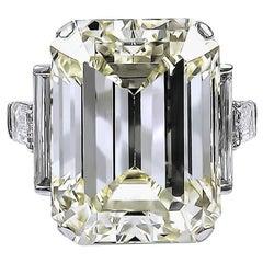 David Webb Emerald-Cut Diamond Engagement Ring, 52.55 Carat