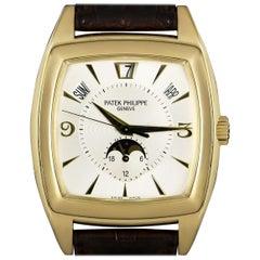 Patek Philippe Gondolo Annual Calendar Gold Silver Dial 5135J Wristwatch