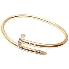Cartier Juste un Clou Diamond Yellow Gold Nail Bangle Bracelet