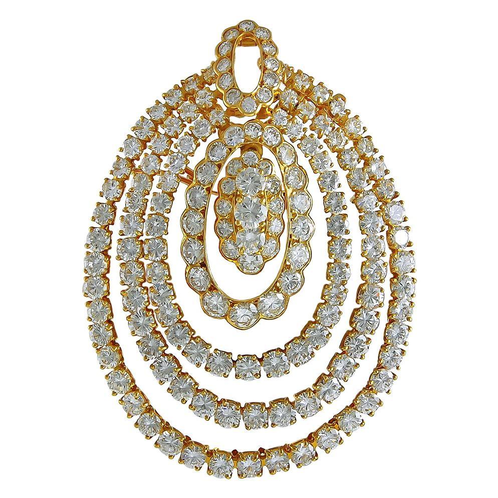 Van Cleef & Arpels Diamond Brooch Pendant