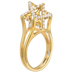 Merkaba Diamond Gold Ring