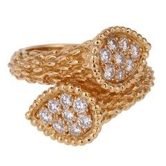 Boucheron Paris Serpent Boheme Toi et Moi Diamond Gold Ring