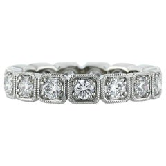Mark Broumand 1.20ct Round Brilliant Cut Diamond Eternity Band in 18k White Gold