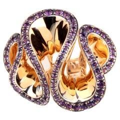 De Grisogono Zigana Amethyst Rose Gold Ring