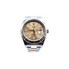 Rolex Datejust II Fluted Bezel Two-Tone 18 Karat Yellow Gold Watch Ref 116333