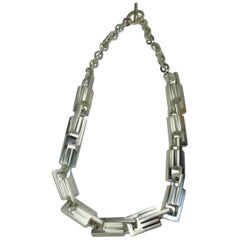 Emer Roberts Sterling Silver Large Link Statement Necklace Chain