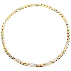 Fred Paris Yellow, White and Rose Gold Diamond Necklace