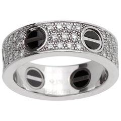 Cartier Love Ceramic Diamond Gold Ring