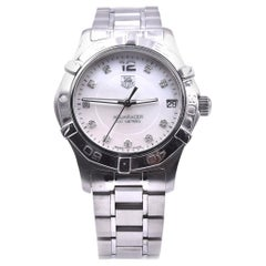 TAG Heuer Ladies Midsize Aquaracer White Mother of Pearl Dial Watch Ref. WAF1312