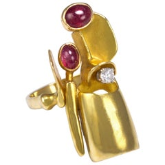 Fernand Demaret Ruby, Diamond and Gold Ring