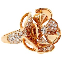 Bulgari Diva Dreams Diamond Rose Gold Ring