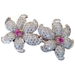 Wonderful Diamond Double Flower Ring
