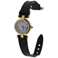 Vintage Cartier Watch 18 Karat Yellow Gold