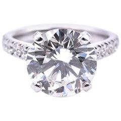 5.13 Carat Brilliant Cut Diamond Engagement Ring