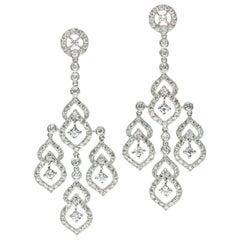 6.52 Carat Diamond Chandelier Earrings