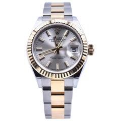 Rolex Datejust New Style Two-Tone 18 Karat Gold Ladies Wristwatch Ref 179173