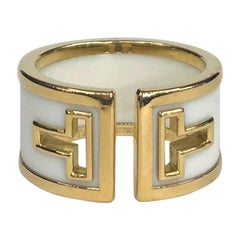 Tiffany & Co. Yellow Gold and White Ceramic Band