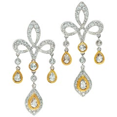 2.62 Carat Diamond Dangle Earrings