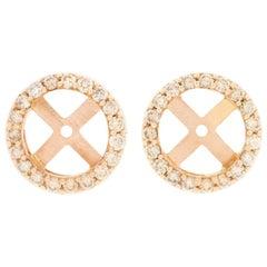 18 Karat Rose Gold and 1 Carat Cognac Diamond Cluster by Alessa Jewelry