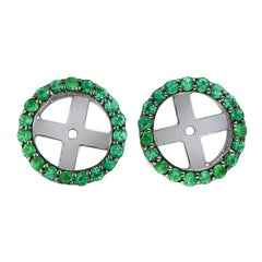 18 Karat White Gold and 1 Carat Emerald Cluster by Alessa Jewelry