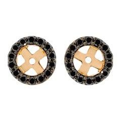 18 Karat Rose Gold and 1 Carat Black Diamond Cluster by Alessa Jewelry