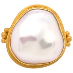 Kimarie Mabe Pearl Yellow Gold Ring