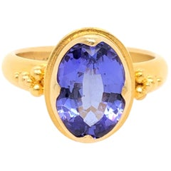 Kimarie Yellow Gold Tanzanite Ring