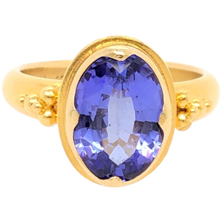 Kimarie Yellow Gold Tanzanite Ring For Sale