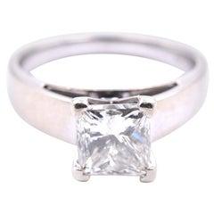 14 Karat White Gold 1.40 Carat Diamond Engagement Ring