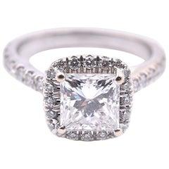 14 Karat White Gold 1.10 Carat Diamond Engagement Ring