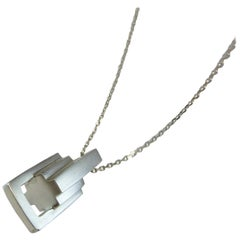 Emer Roberts Solid Silver Large Link Pendant Necklace
