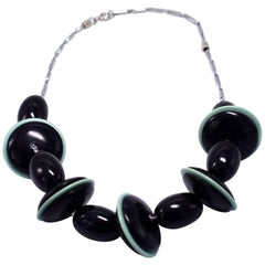 Art Deco Statement Necklace by Jacob Bengel, circa 1930