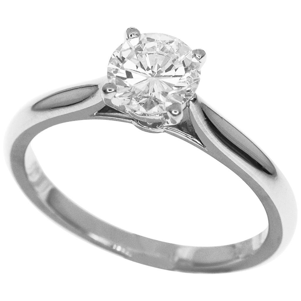 Cartier 0.62 Carat F-VVS2 Diamond Solitaire Platinum, 1895 Ring