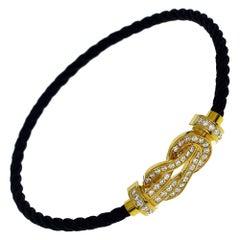 Fred Diamond 18 Karat Yellow Gold 8°0 Buckle Bracelet