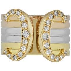 "Cartier Double ""C"" Diamond Ring"